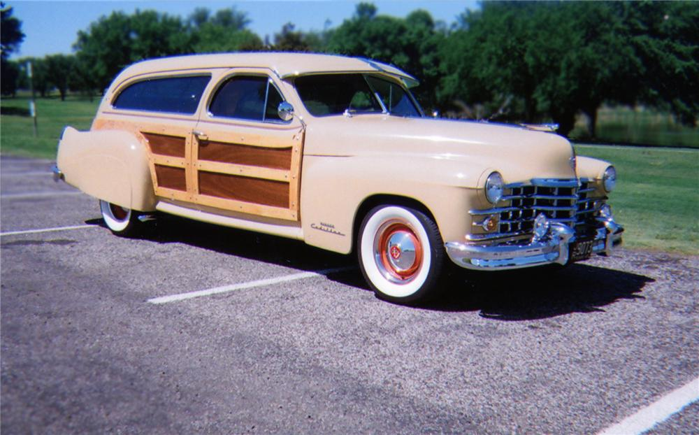 1947 CADILLAC CUSTOM WOODY STATION WAGON - Front 3/4 - 79103