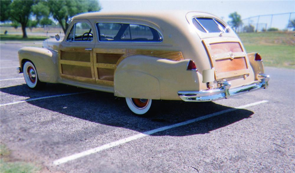 1947 CADILLAC CUSTOM WOODY STATION WAGON - Rear 3/4 - 79103