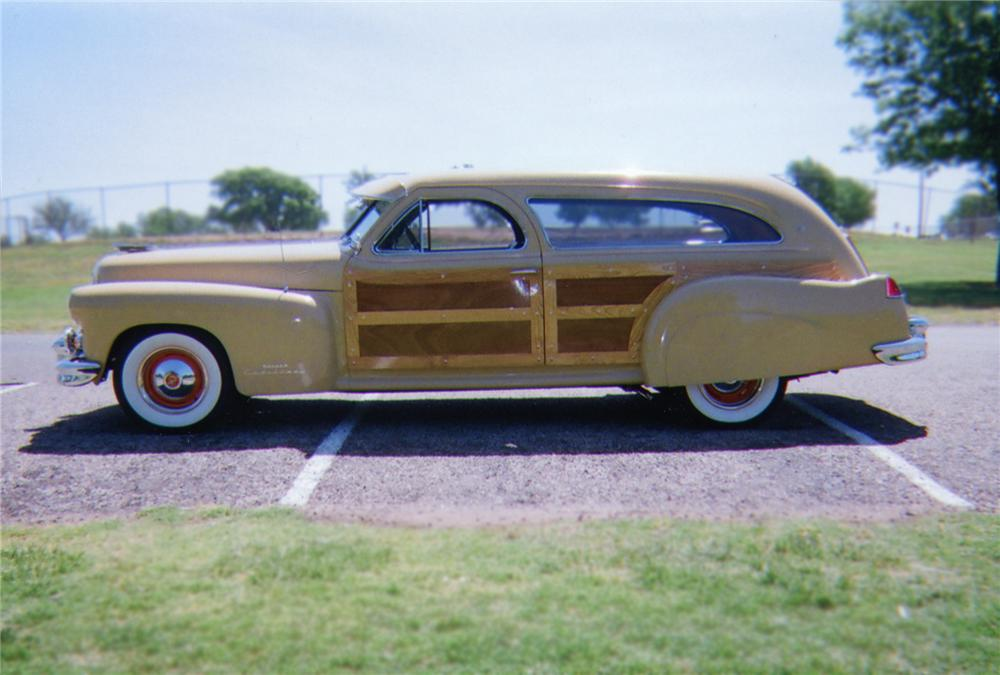 1947 CADILLAC CUSTOM WOODY STATION WAGON - Side Profile - 79103