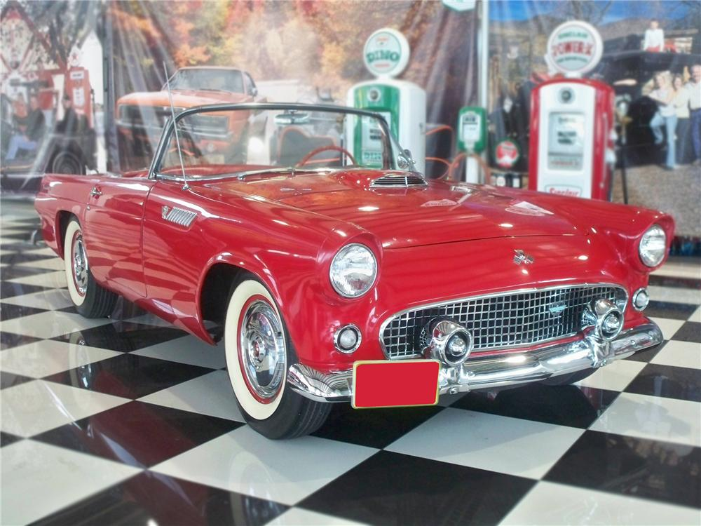 1955 FORD THUNDERBIRD CONVERTIBLE - Front 3/4 - 79105