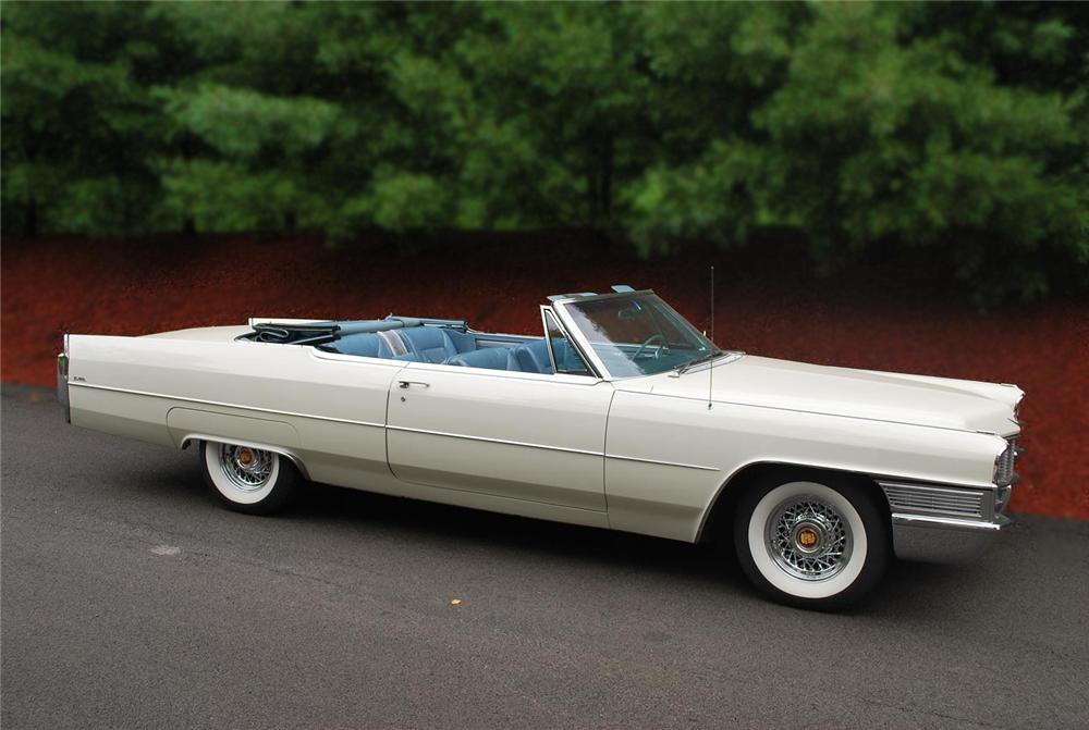 1965 CADILLAC DE VILLE CONVERTIBLE - Side Profile - 79114
