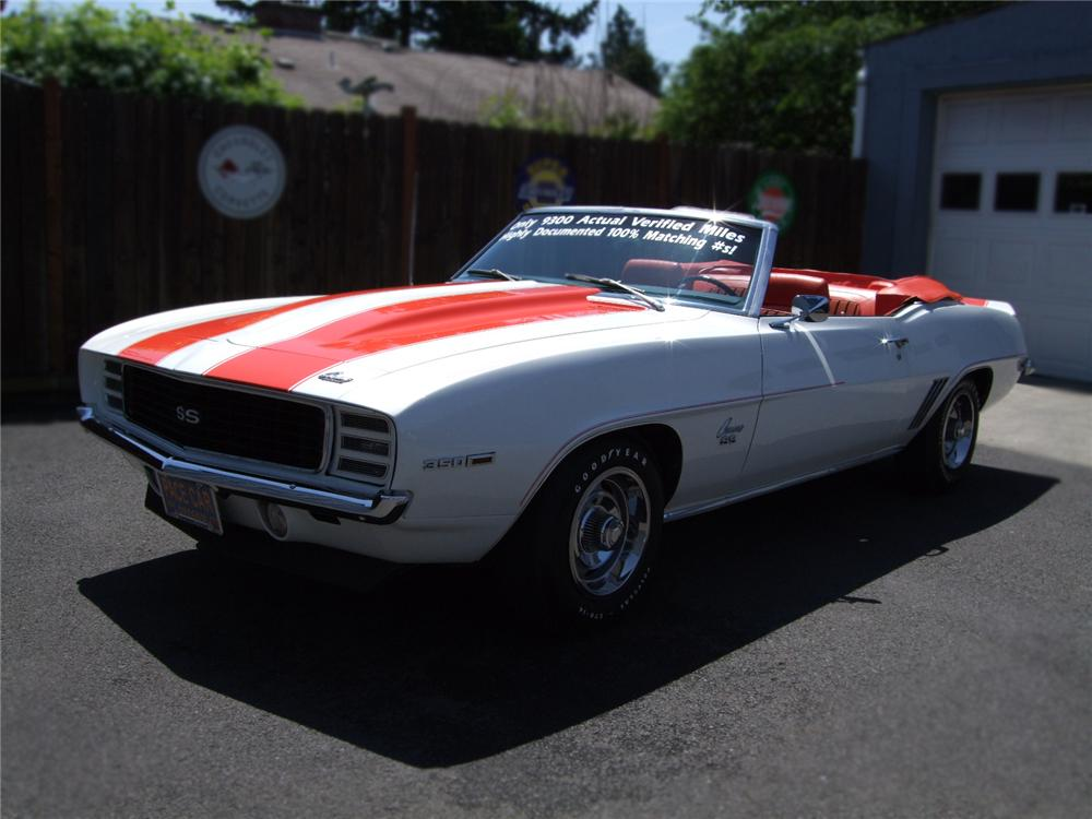 1969 CHEVROLET CAMARO RS/SS INDY 500 PACE CAR CONVERTIBLE - Front 3/4 - 79132