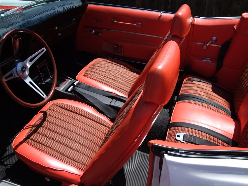 1969 CHEVROLET CAMARO RS/SS INDY 500 PACE CAR CONVERTIBLE - Interior - 79132
