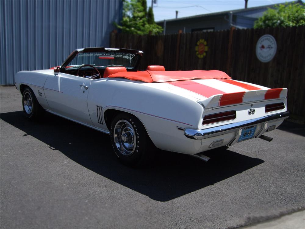 1969 CHEVROLET CAMARO RS/SS INDY 500 PACE CAR CONVERTIBLE - Rear 3/4 - 79132