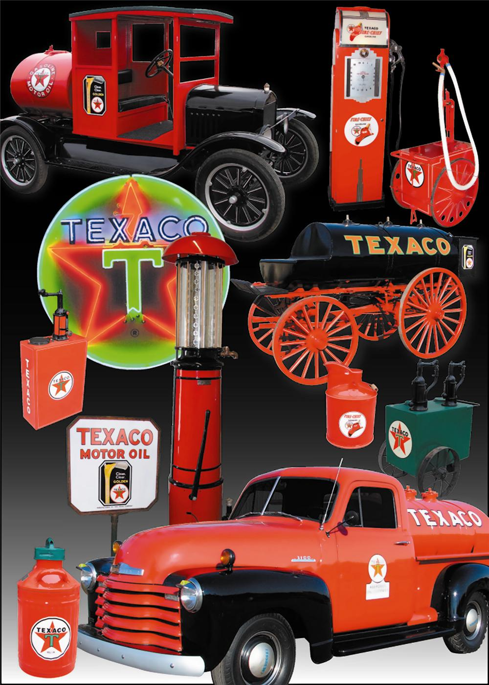 0 TEXACO OIL MUSEUM INCLUDING 180 PIECES OF TEXACO MEMORABILIA - Front 3/4 - 79136