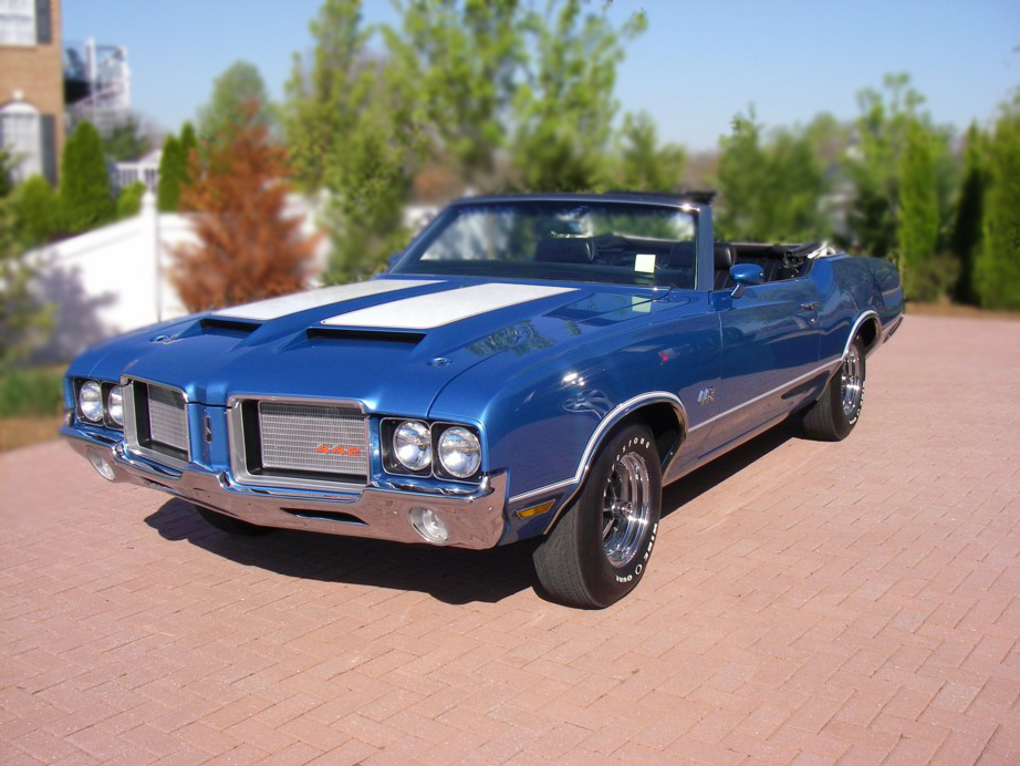 1972 OLDSMOBILE CUTLASS 442 CONVERTIBLE - Front 3/4 - 79139