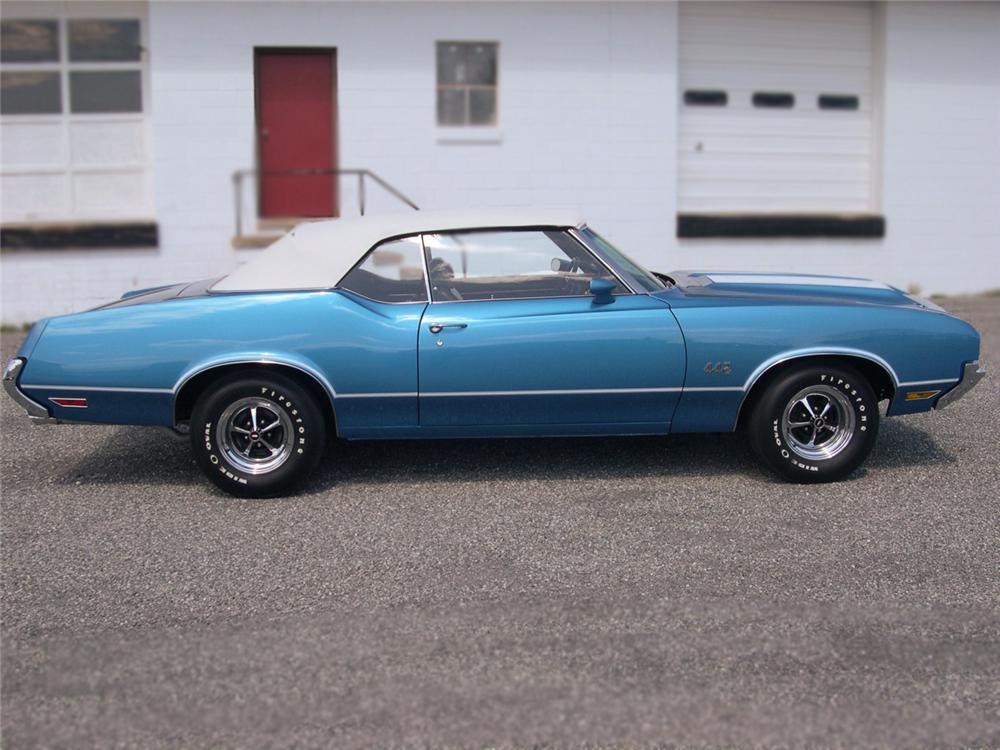 1972 OLDSMOBILE CUTLASS 442 CONVERTIBLE - Side Profile - 79139