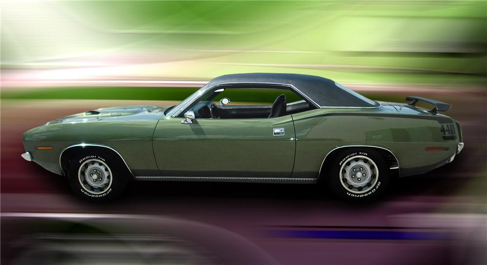 1970 PLYMOUTH CUDA COUPE - Front 3/4 - 79148