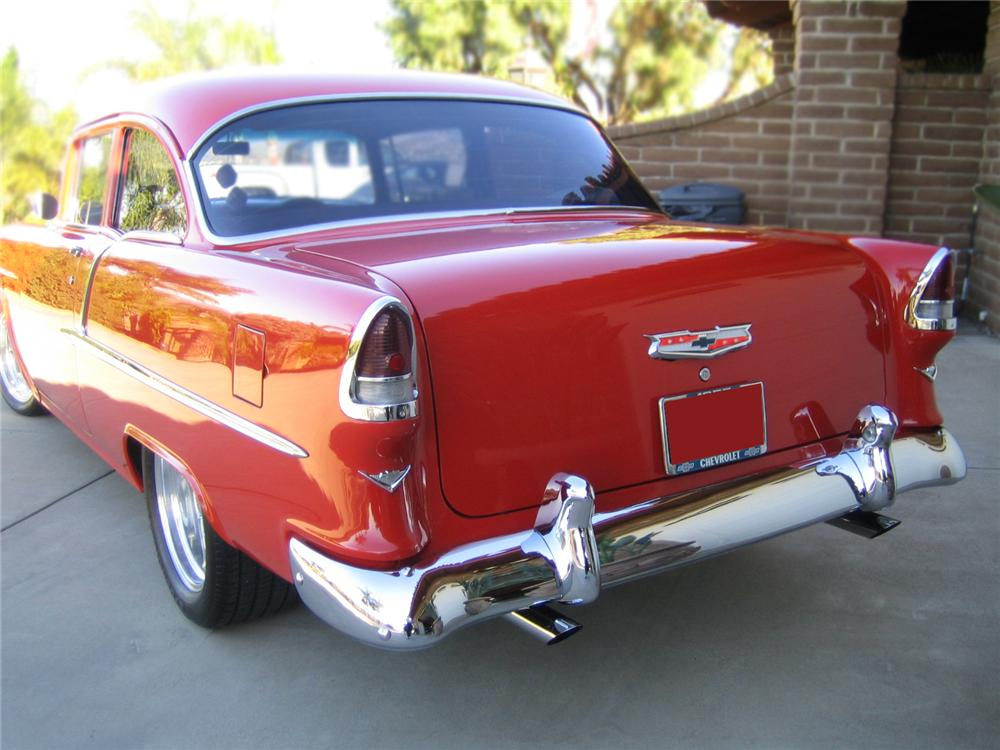 1955 CHEVROLET 210 CUSTOM 2 DOOR COUPE - Rear 3/4 - 79156