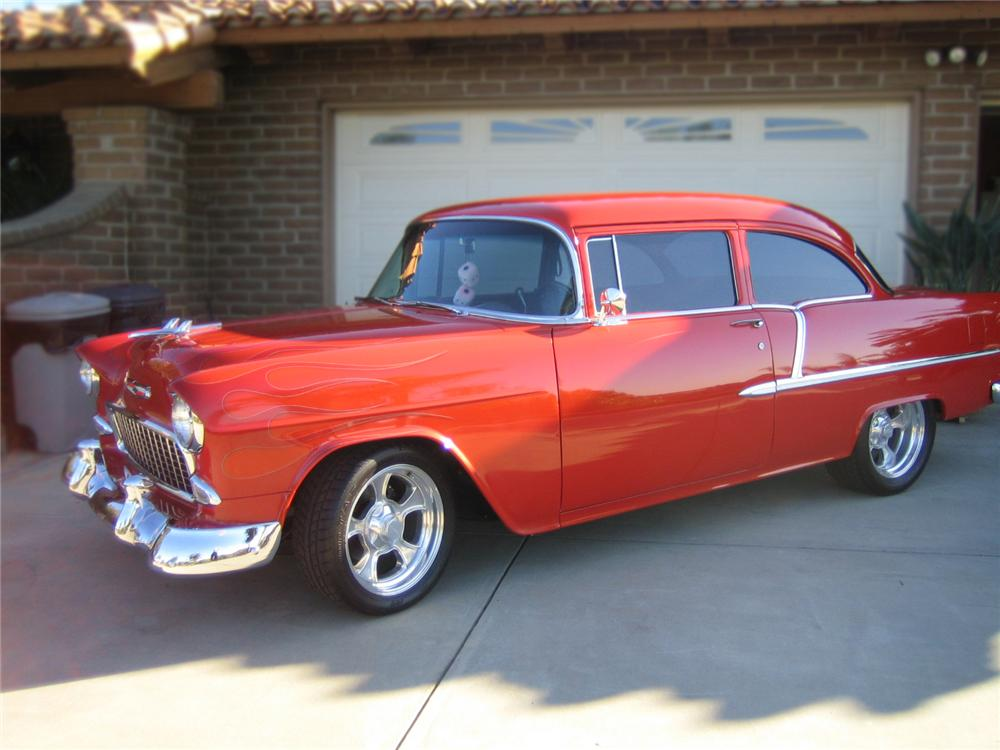 1955 CHEVROLET 210 CUSTOM 2 DOOR COUPE - Side Profile - 79156