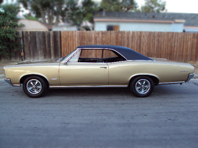 1966 PONTIAC GTO 2 DOOR HARDTOP - Side Profile - 79164