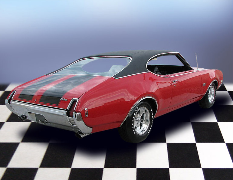 1969 OLDSMOBILE 442 COUPE - Rear 3/4 - 79187