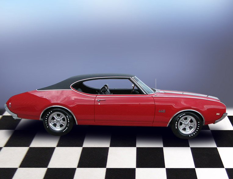 1969 OLDSMOBILE 442 COUPE - Side Profile - 79187