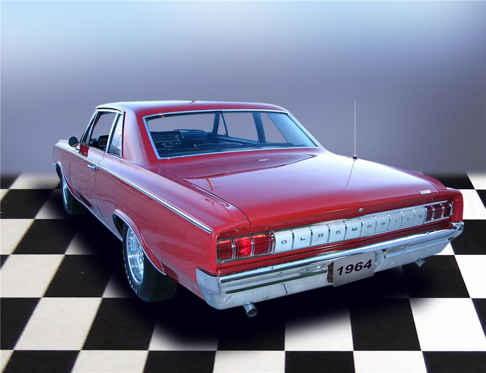 1964 OLDSMOBILE 442 COUPE - Rear 3/4 - 79188