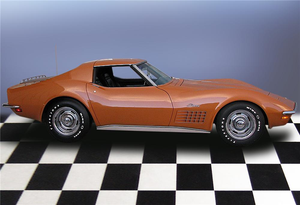 1972 CHEVROLET CORVETTE COUPE - Side Profile - 79189