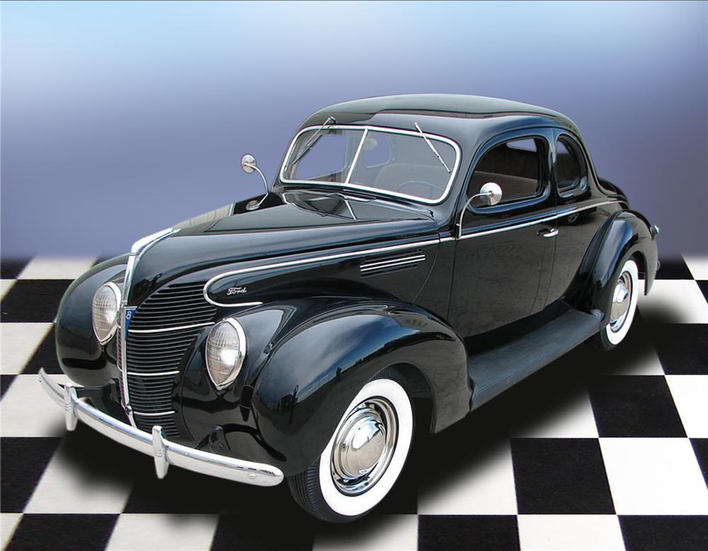 1939 FORD STANDARD 5 WINDOW COUPE - Front 3/4 - 79196
