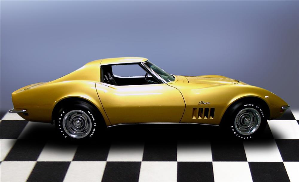 1969 CHEVROLET CORVETTE COUPE - Side Profile - 79198