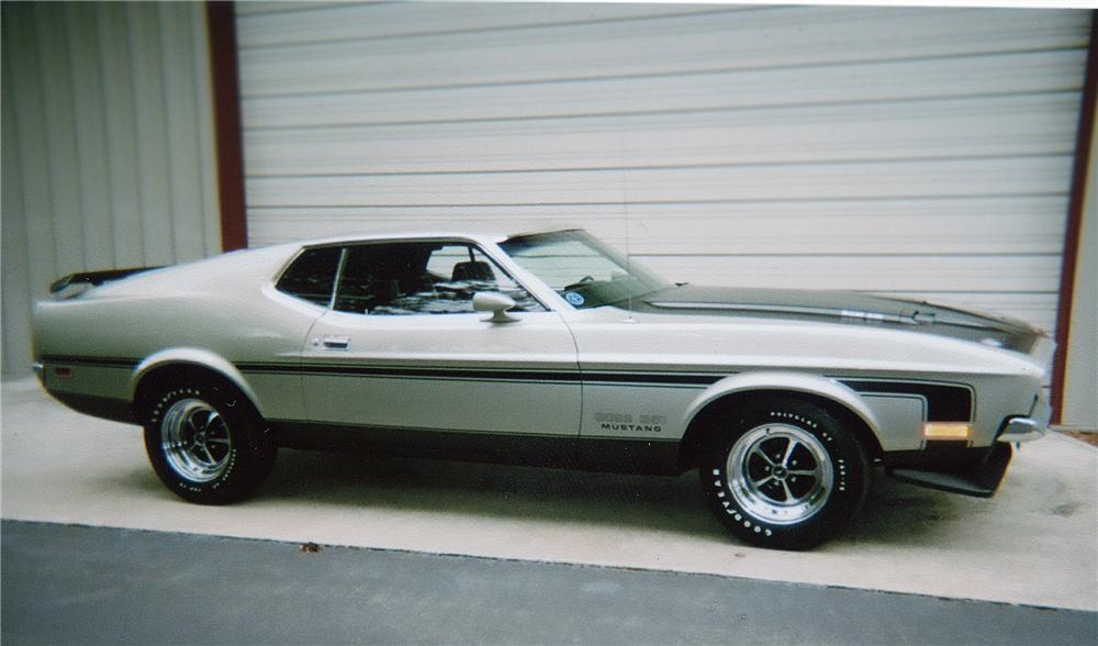 1971 FORD MUSTANG BOSS 351 SPORTSROOF - Side Profile - 79208