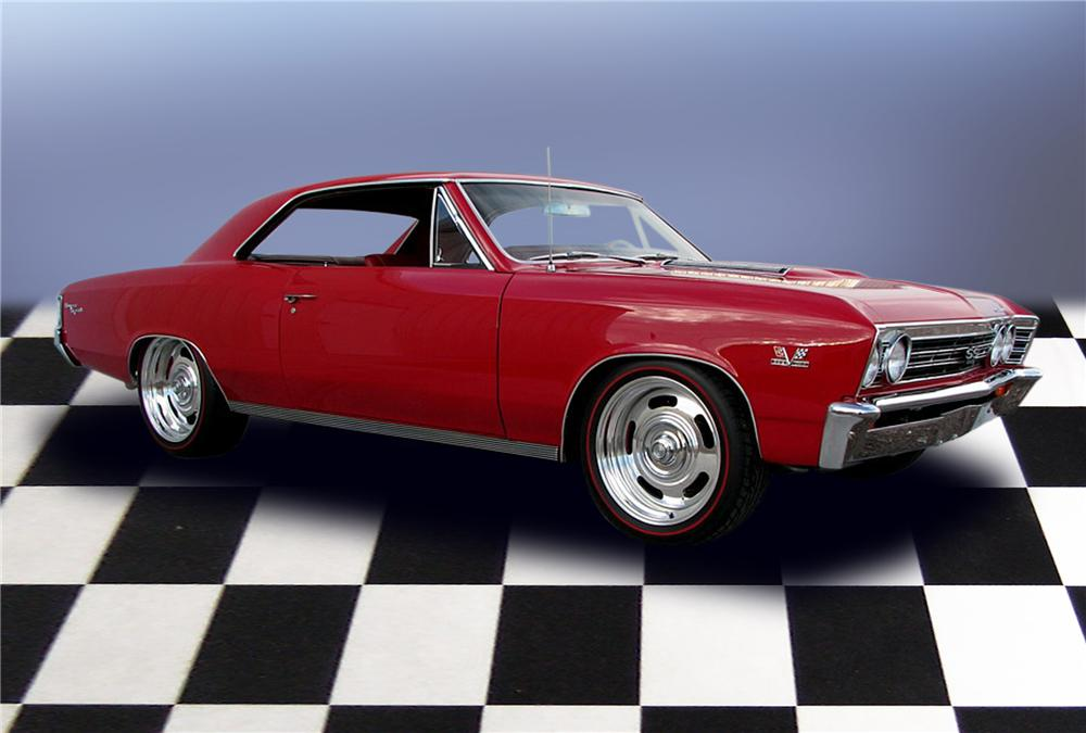 1967 CHEVROLET CHEVELLE SS 2 DOOR PRO-TOURING COUPE - Front 3/4 - 79209