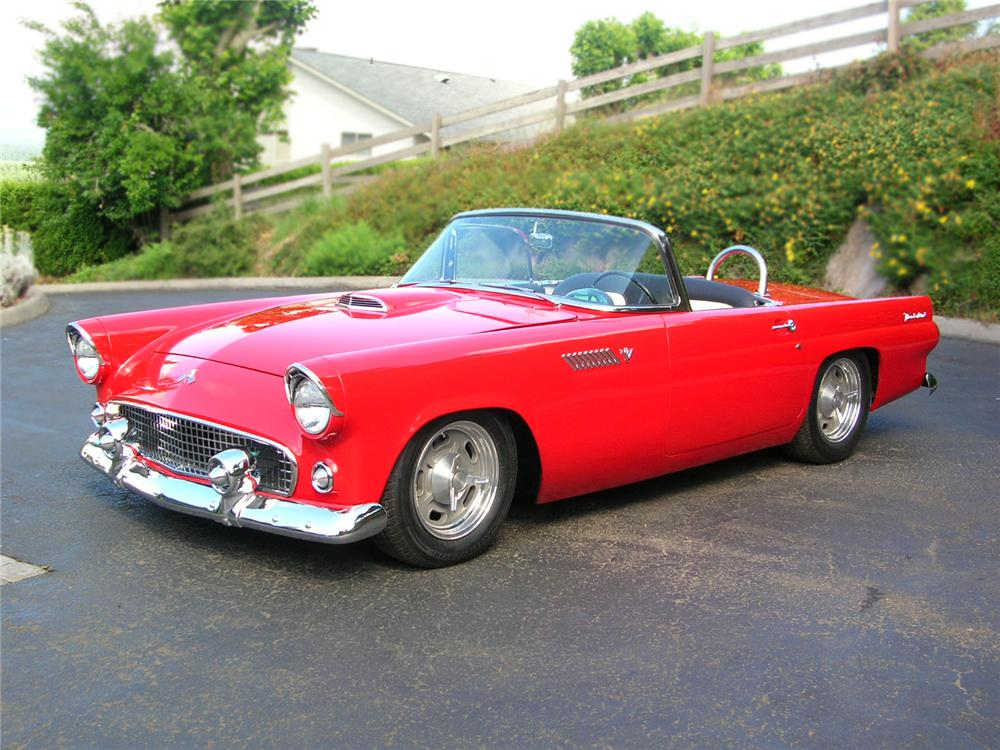 1955 FORD THUNDERBIRD CONVERTIBLE RESTO-MOD - Front 3/4 - 79210