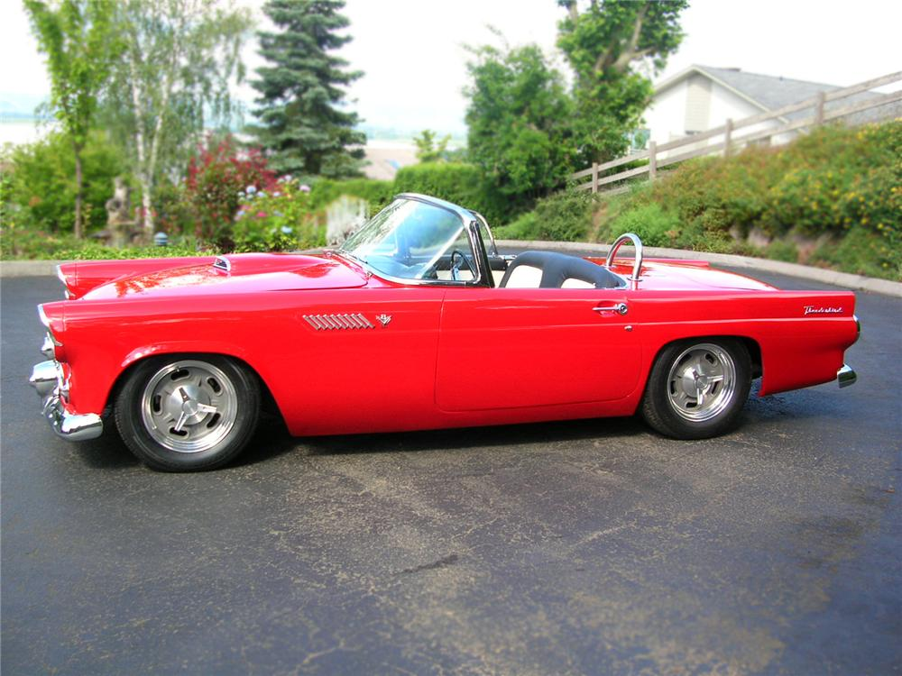 1955 FORD THUNDERBIRD CONVERTIBLE RESTO-MOD - Side Profile - 79210