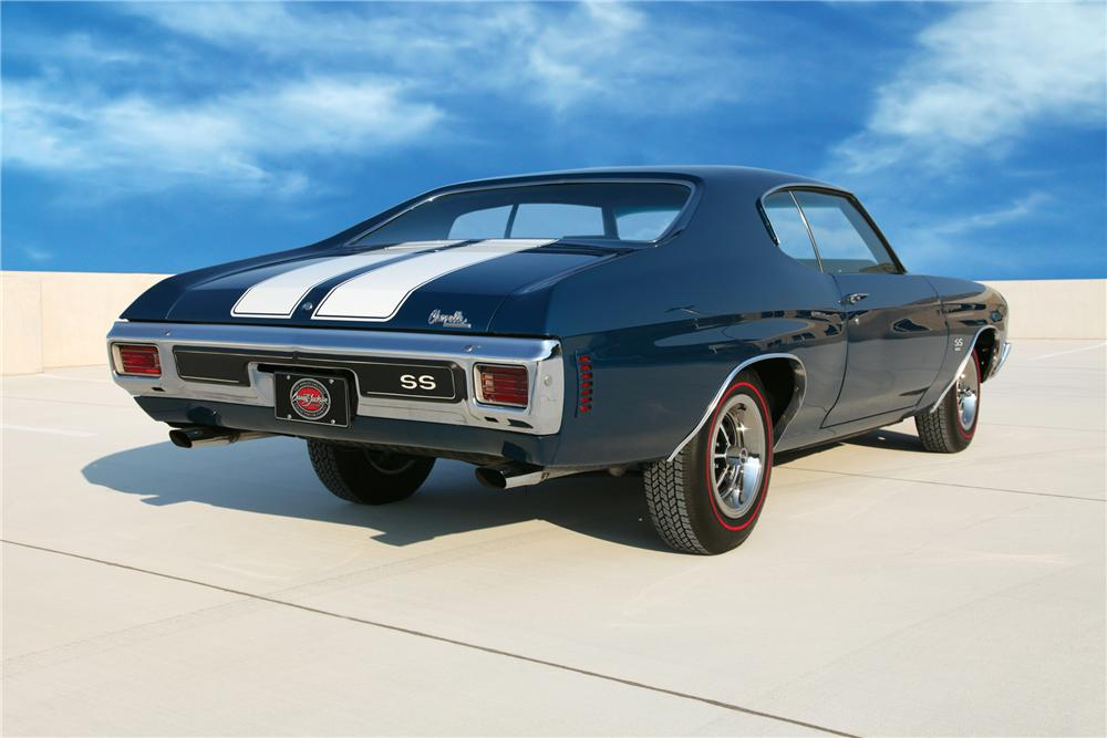1970 CHEVROLET CHEVELLE SS 396 SPORT COUPE - Rear 3/4 - 79212