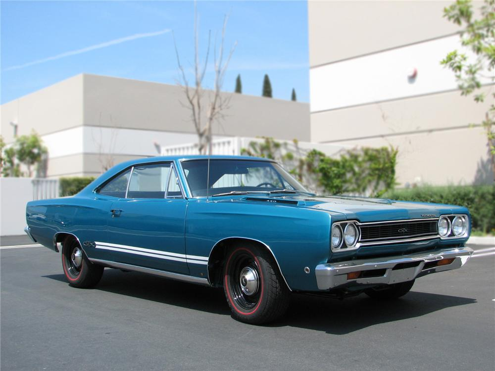 1968 PLYMOUTH GTX 2 DOOR HARDTOP 79227 on dodge 440 v8 engine