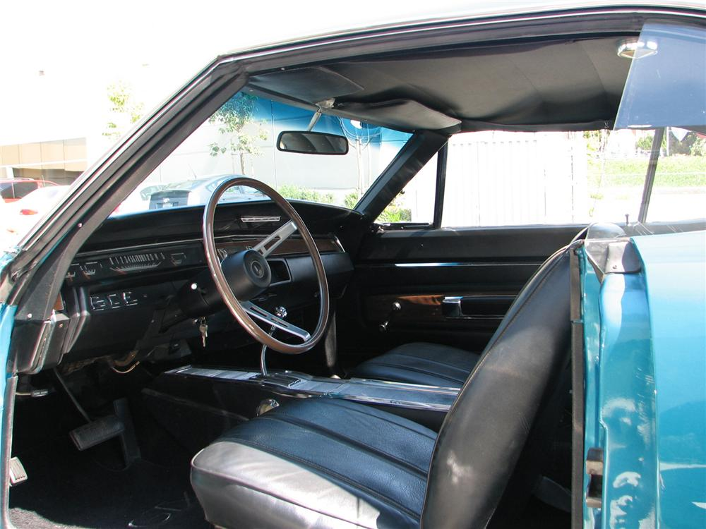 1968 PLYMOUTH GTX 2 DOOR HARDTOP - Interior - 79227