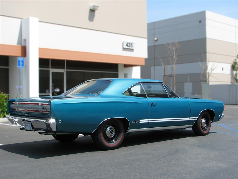 1968 PLYMOUTH GTX 2 DOOR HARDTOP - Rear 3/4 - 79227