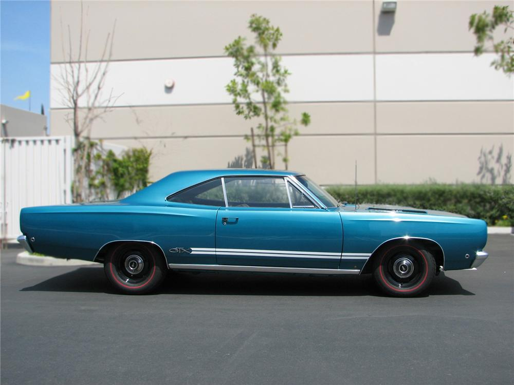 1968 PLYMOUTH GTX 2 DOOR HARDTOP - Side Profile - 79227