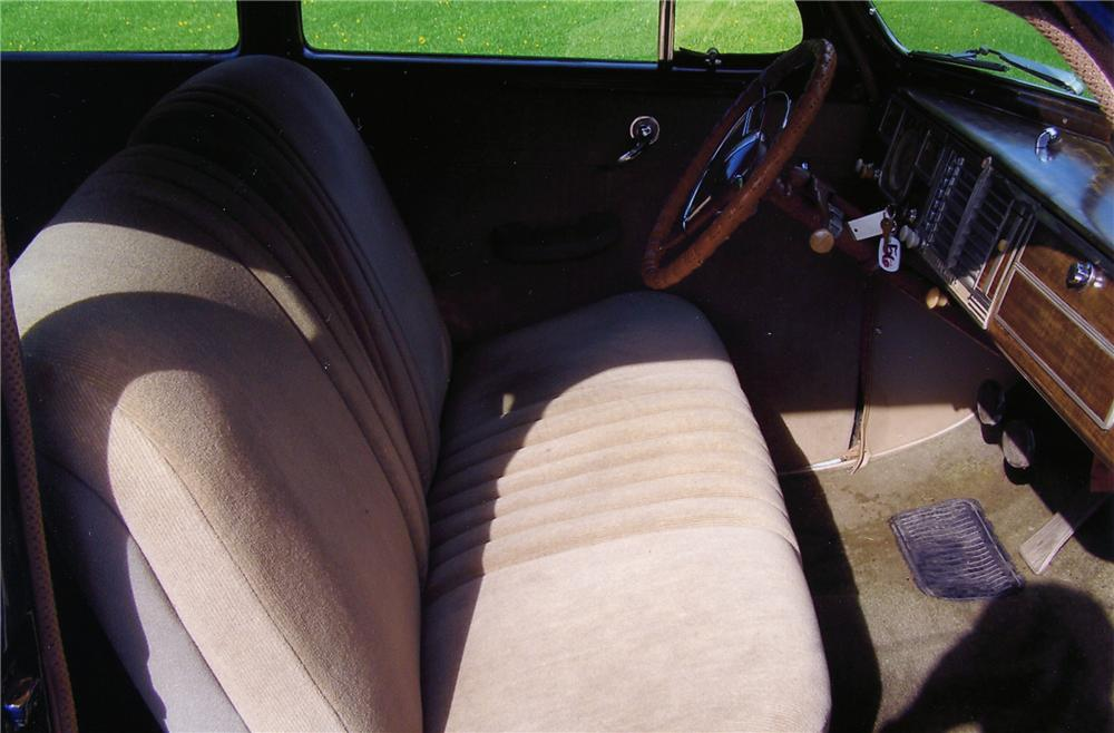 1940 PLYMOUTH DELUXE 2 DOOR SEDAN - Interior - 79238