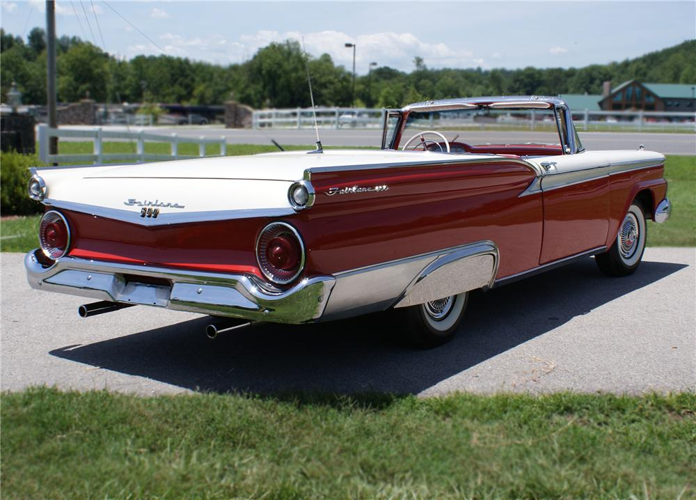 1959 FORD FAIRLANE RETRACTABLE HARDTOP - Rear 3/4 - 79243