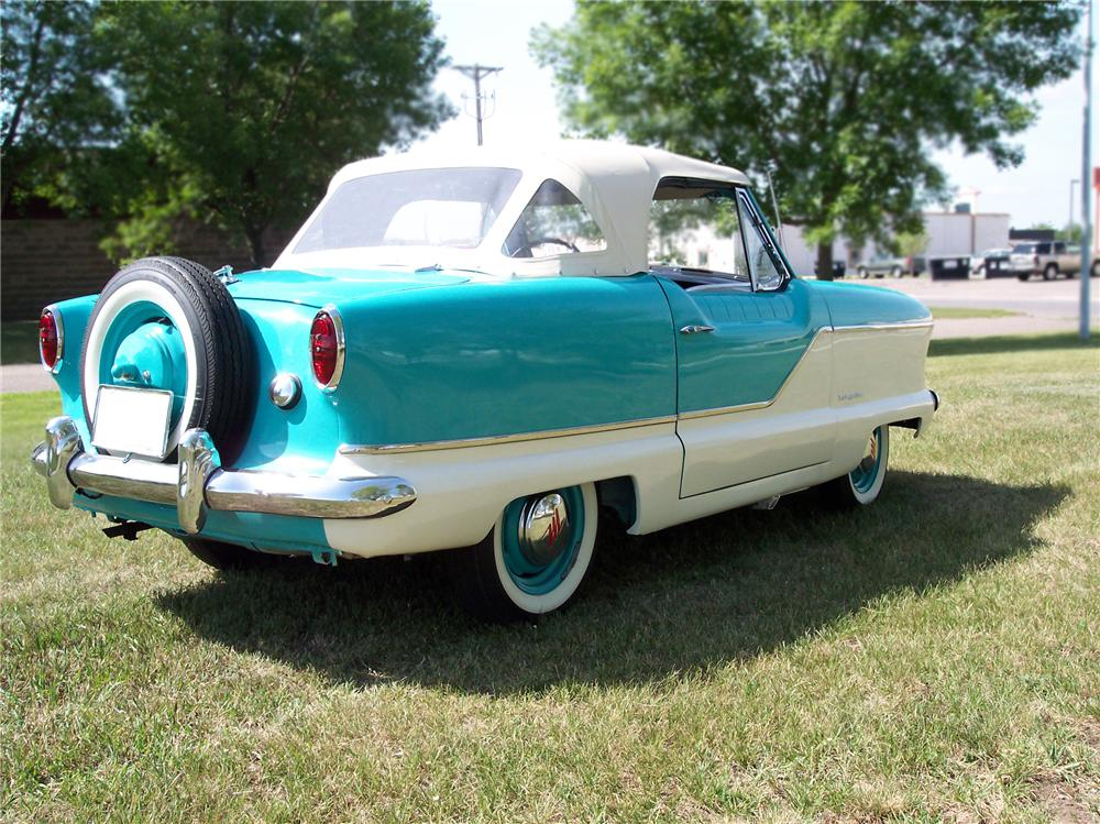 1960 NASH METROPOLITAN 2 DOOR CONVERTIBLE - Rear 3/4 - 79248
