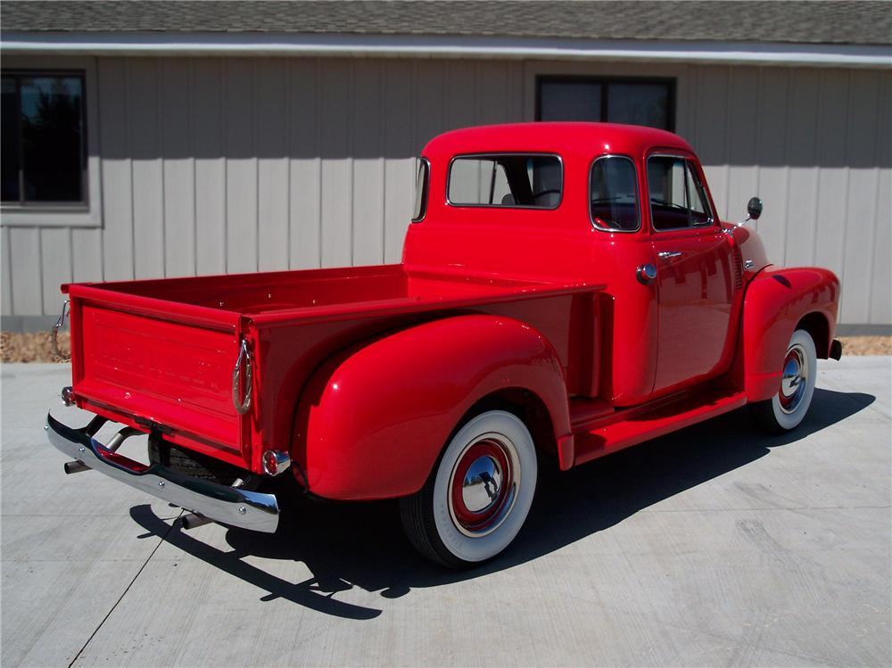 1954 CHEVROLET 3100 PICKUP - Rear 3/4 - 79249