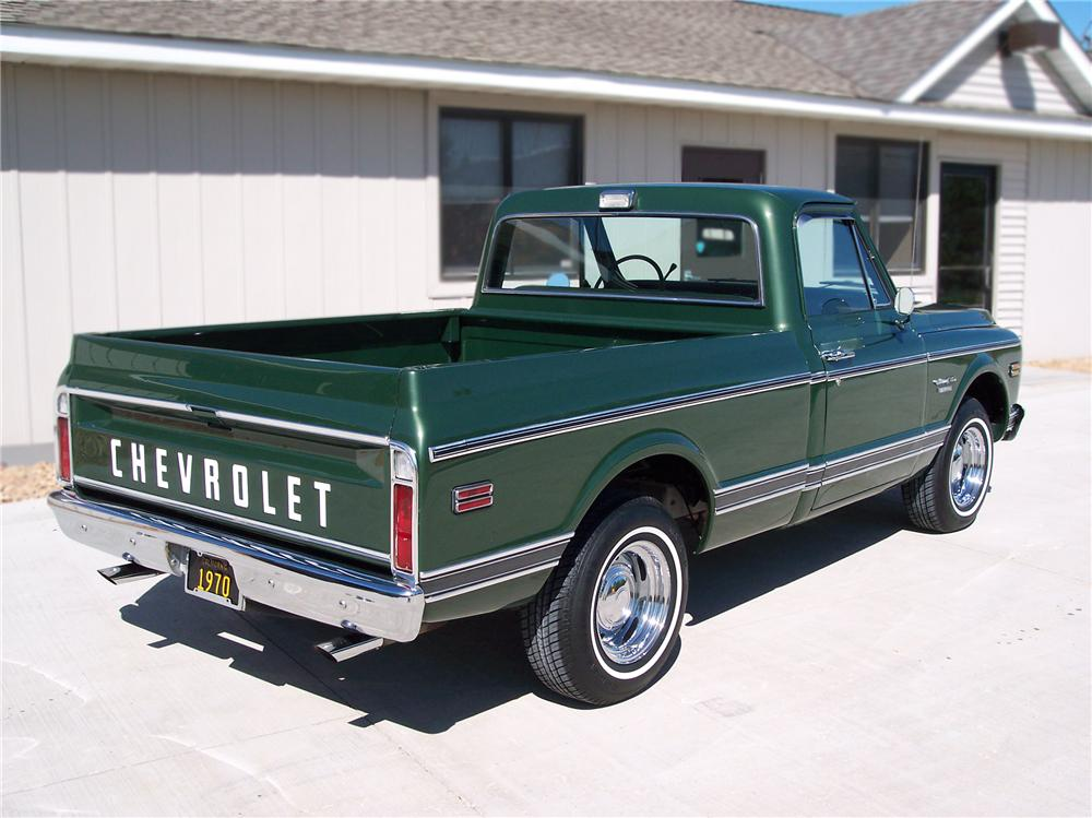 1970 CHEVROLET C-10 FLEETSIDE SHORTBOX PICKUP - Rear 3/4 - 79251