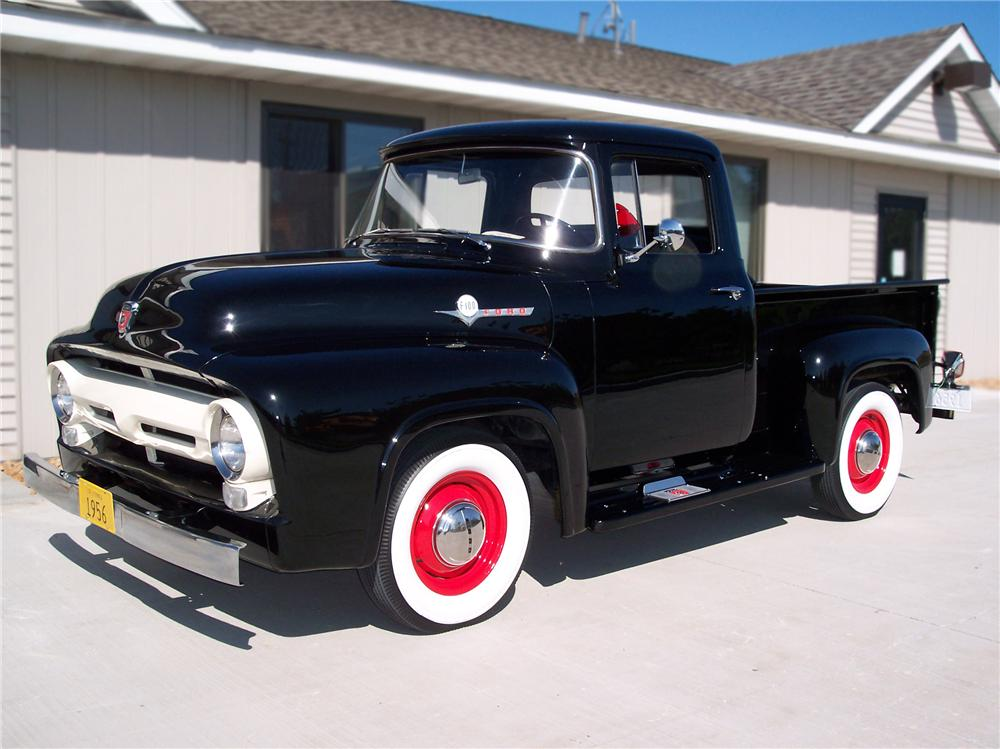 1956 FORD F-100 PICKUP - Front 3/4 - 79252