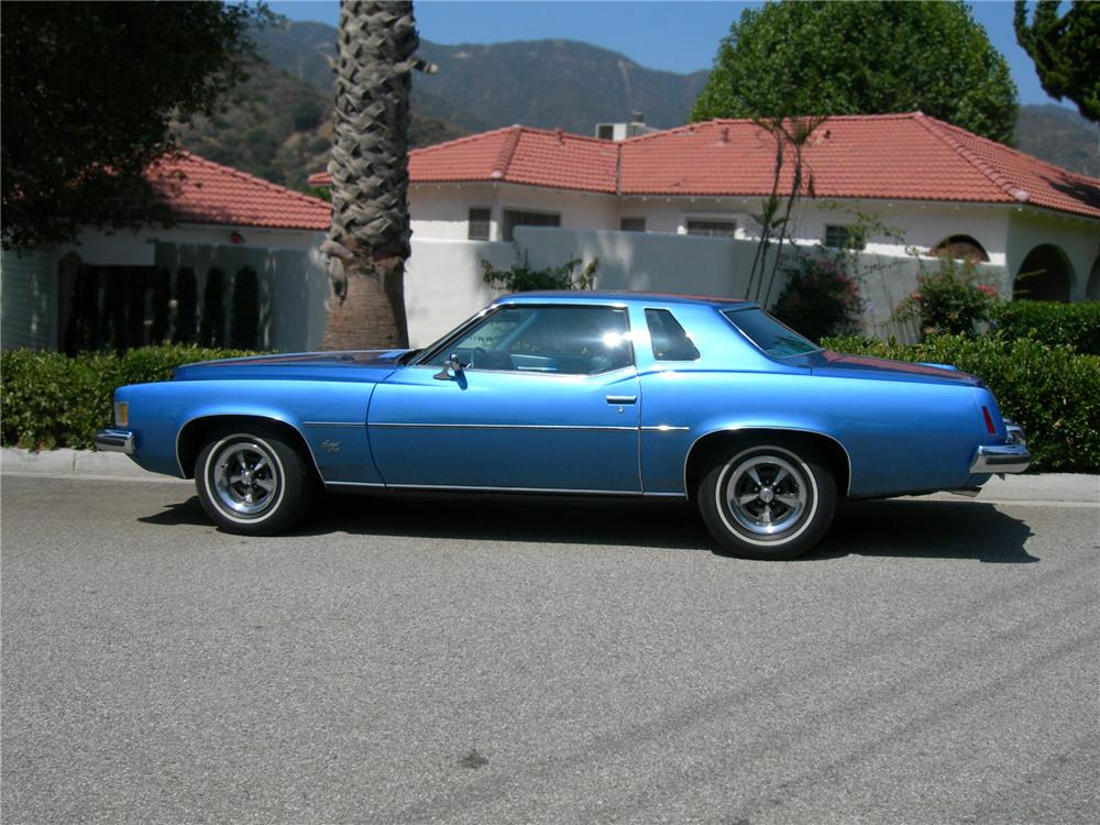 1973 PONTIAC GRAND PRIX 2 DOOR HARDTOP - Side Profile - 79254