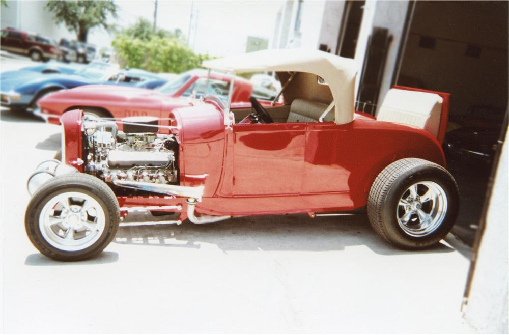 1929 FORD HI-BOY ROADSTER - Side Profile - 79274