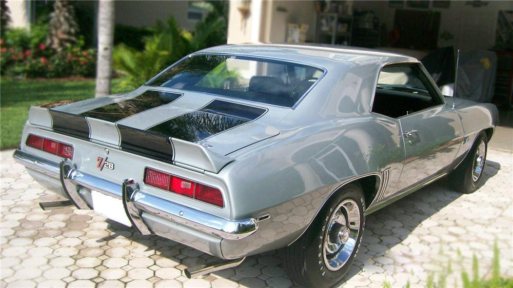1969 CHEVROLET CAMARO Z/28 2 DOOR COUPE - Rear 3/4 - 79281