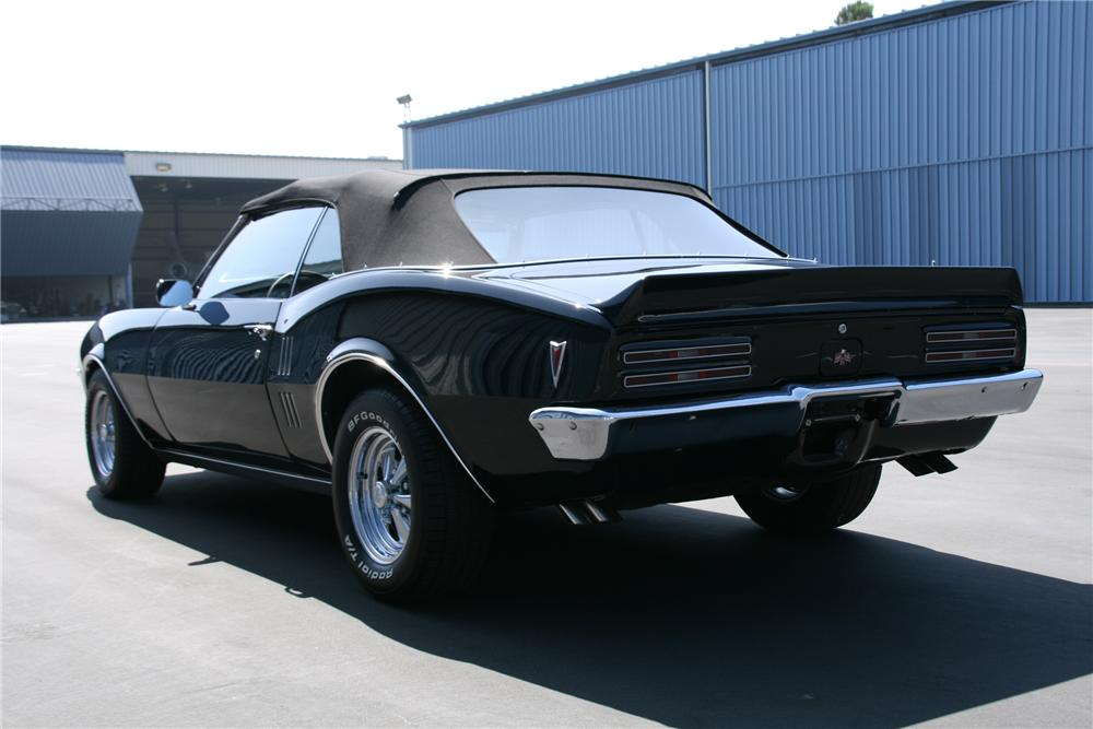 "1968 PONTIAC FIREBIRD 400 CONVERTIBLE ""BRUCE WILLIS"" - Rear 3/4 - 79516"