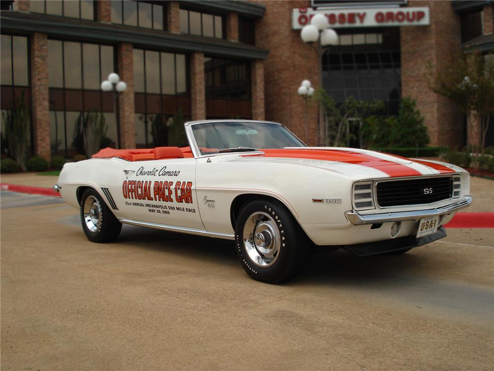 1969 CHEVROLET CAMARO INDY PACE CAR CONVERTIBLE - Front 3/4 - 79528