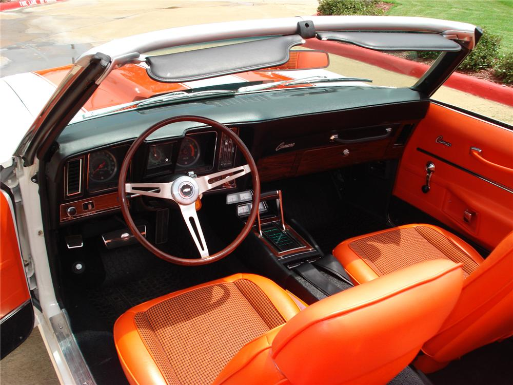 1969 CHEVROLET CAMARO INDY PACE CAR CONVERTIBLE - Interior - 79528