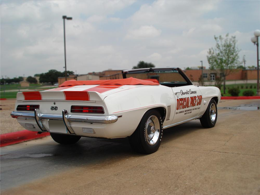 1969 CHEVROLET CAMARO INDY PACE CAR CONVERTIBLE - Rear 3/4 - 79528