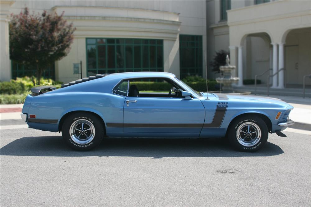 1970 FORD MUSTANG BOSS 302 FASTBACK - Side Profile - 79578