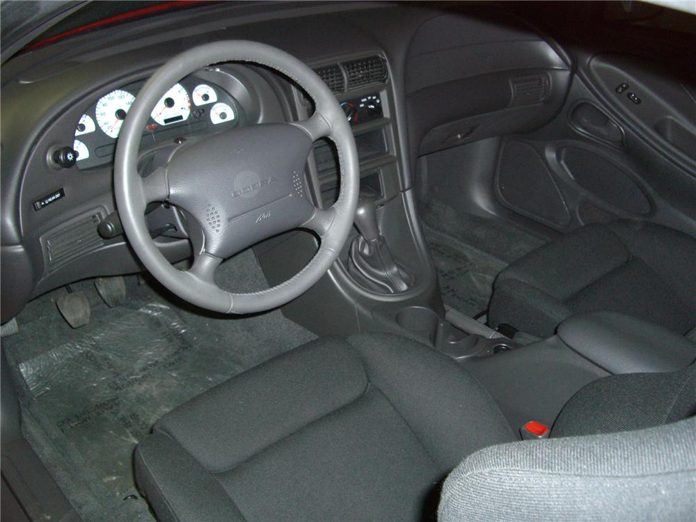 "2000 FORD MUSTANG COBRA ""R"" COUPE - Interior - 79595"