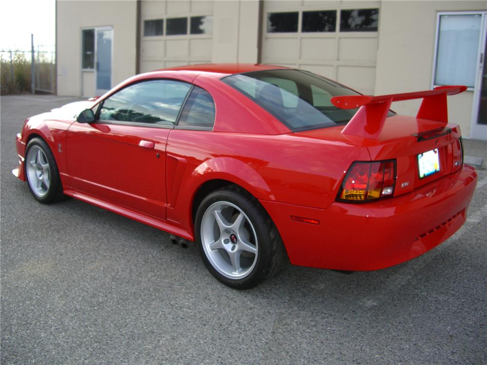 "2000 FORD MUSTANG COBRA ""R"" COUPE - Rear 3/4 - 79595"