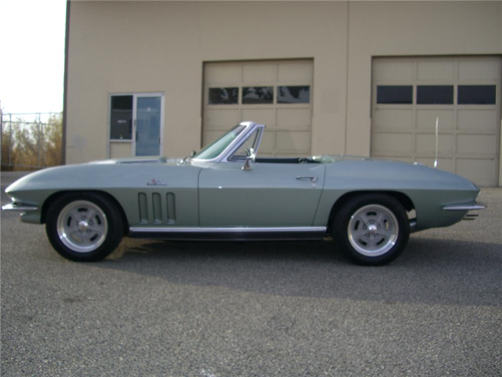 1966 CHEVROLET CORVETTE CONVERTIBLE - Side Profile - 79597