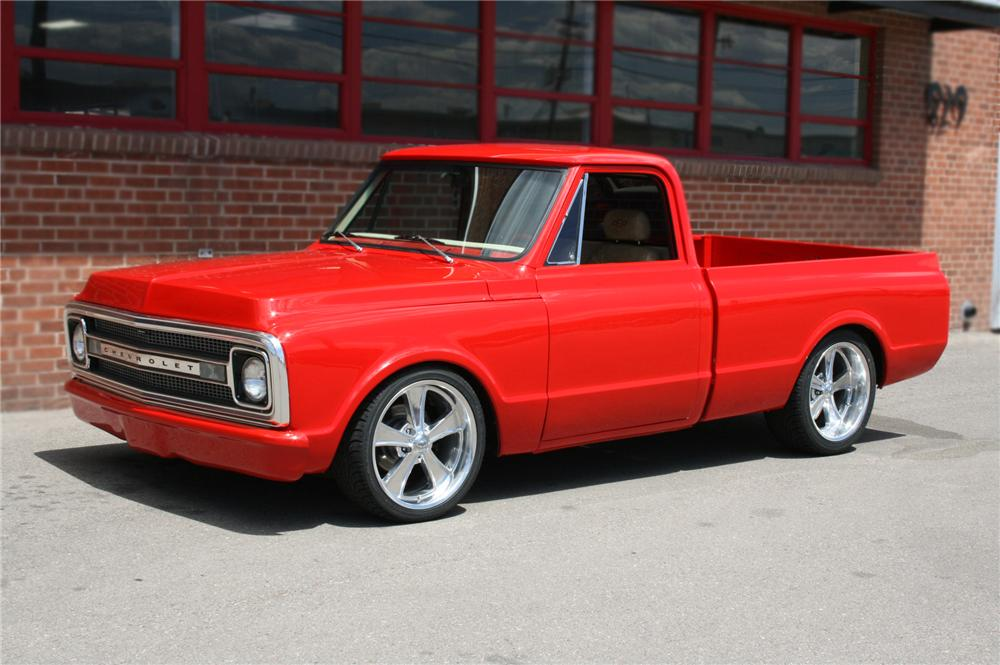 1970 CHEVROLET C-10 CUSTOM 1/2 TON PICKUP - Front 3/4 - 79602