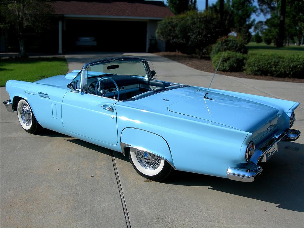1957 FORD THUNDERBIRD CONVERTIBLE - Rear 3/4 - 79608