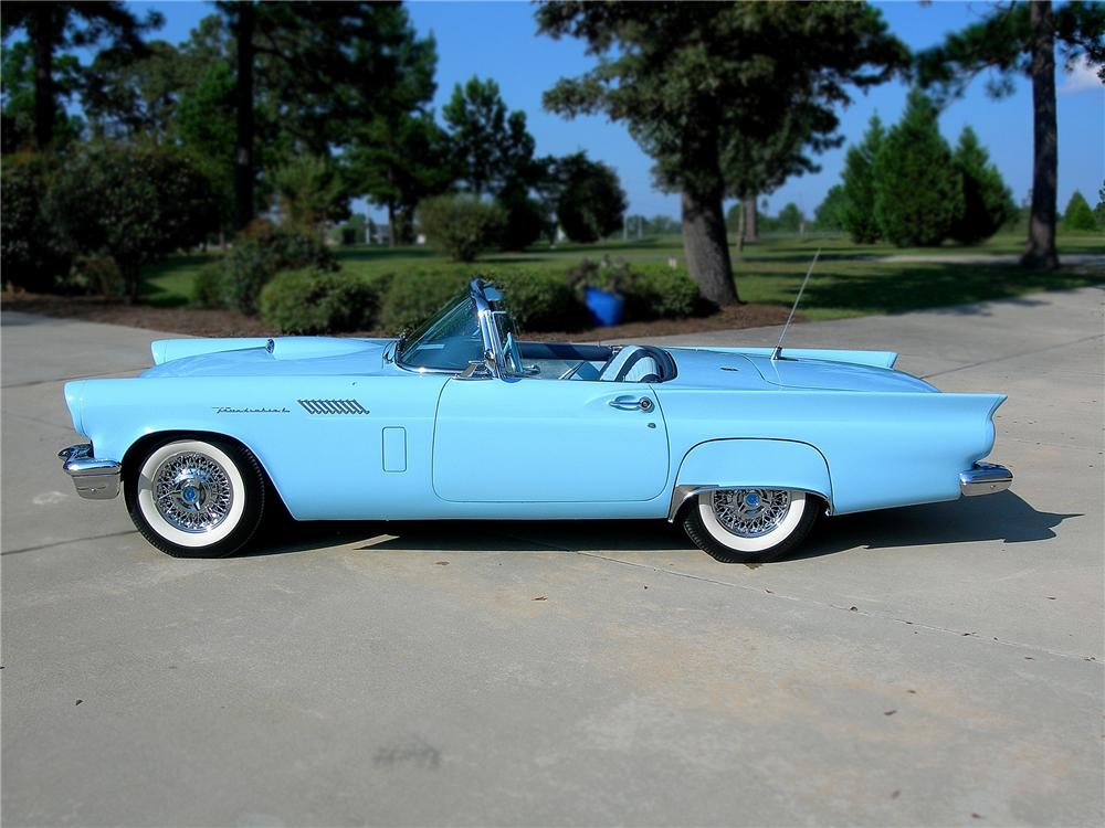 1957 FORD THUNDERBIRD CONVERTIBLE - Side Profile - 79608